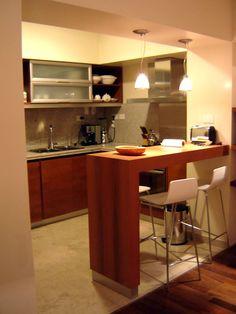 Me recuerda a mi cocina, espacio pequeño pero acogedor