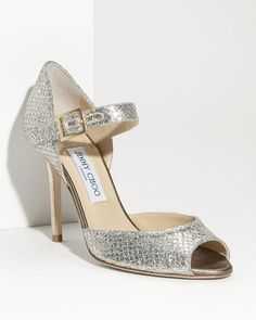 5 Pairs of Over-the-Top Wedding Shoes! Which Would You Wear? (If You're Going to Splurge on Wedding Shoes, Jimmy Choo Has You Covered!): Save the Date: glamour.com