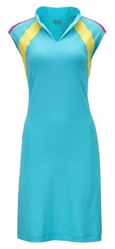 Bette & Court/Swing Ladies & Plus Size Sleeveless Solid Golf Dress - Bloom (Caribbean)