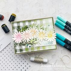 Ombre Technique, Different Shades Of Green, Challenge Me, My Stamp, Facebook Sign Up, Scrapbook Pages, Stampin Up, Stuff To Do, Daisy