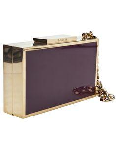 purple box wristlet clutch by lanvin