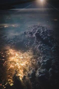30,000 ft over Nebraska - Stunning view from the plane as a storm rolled over Omaha on my way back to New York.