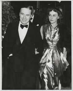 Great shot of Charlie Chaplin & Paulette Goddard, taken during production of The Great Dictator, his hair dyed black.