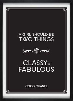 Vintage style digital art print Coco Chanel 50 x by jconstantinou, $35.00