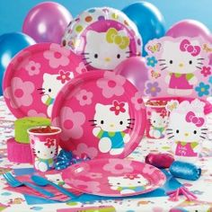Today Melo requested a Hello Kitty birthday party... This could change, but might as well at least start thinking about it.  :)