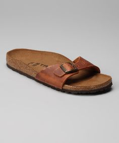 Take a look at this Antique Brown Impression Madrid Slide - Women by Tatami on #zulily today!