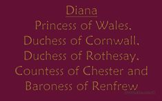 Princess Diana's titles