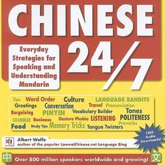 Chinese 24/7: Everyday Strategies for Speaking and Understanding Mandarin by Albert Wolfe So you want to be able to communicate in Chinese, but you've never learned a foreign language before? That's OK. With this book and its free audio tracks, you'll have everything you need to start from scratch and reach any level you want in spoken Mandarin Chines--the official and most widely used kind of Chinese in mainland China and Taiwan.