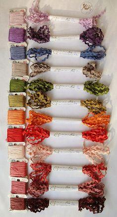 Hand dyed ric-rac by Nina