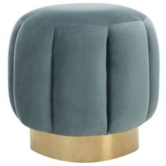 Shop Safavieh Couture Maxine Channel Tufted Otttoman Seafoam / Gold at Homethreads.com and get free shipping.