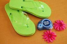 DIY: Embellished Flip Flops