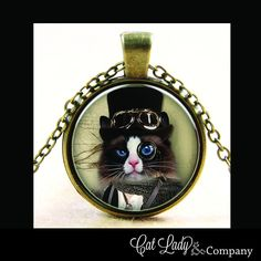 Steampunk Tendencies Kitty Necklace