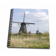 3dRose Netherlands, South Holland, Kinderdijk, Windmill - EU20 JEN0219 - Jim Engelbrecht - Mini Notepad, 4 by 4-inch