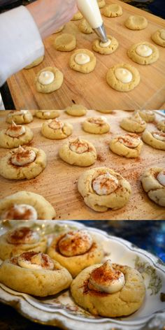 Eggnog Thumbprints | From Valerie's Kitchen #ChristmasCookies