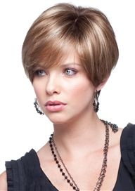 Hand Tied Noble Short Silky Straight Full Lace 100% Human Hair Wig