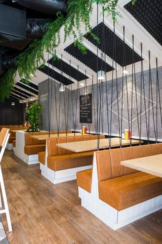 ideas design restaurant bar booth seating for 2019 Restaurant Booth Seating, Decoration Restaurant, Café Restaurant, Cafe Seating, Cafe Interior Design, Cafe Design, Design Interiors, Small Restaurant Design, Wallpaper Wall