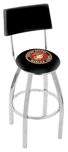 Use this Exclusive coupon code: PINFIVE to receive an additional 5% off the US Marine Corps Bar Stool w/Back at SportsFansPlus.com