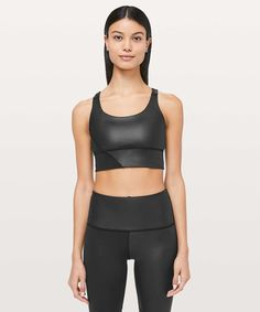 f205a6ff7d24e Lululemon Energy Bra Long Line *Special Edition Cire - Black - lulu fanatics  Women's Sports