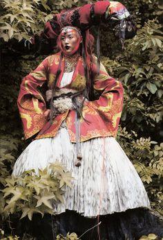 Model Liu Wen photographed by Thomas Schenk for Vogue Espana