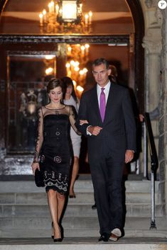 King Felipe and Queen Letizia attended a dinner hosted by Georgetown University. 19. September 2015.