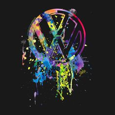 Check out this awesome 'VW+Emblem+Splatter' design on TeePublic!