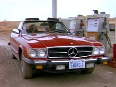 Mercedes 450sl with Bobby and Pam Ewing