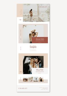 Ready-Made Theme Charley by Studio 9 Co #webdesignideas