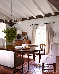 Reese's dining room, mismatched. via living livelier