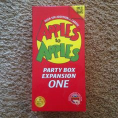 Apples to Apples Party Box Expansion 1 $1.66 Denios