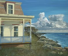 """Yesterday"" by Edward Gordon. 15"" x 18"" Oil on Panel. Available at Maine Art Painting& Sculpture. #maineart #yesterday #art"