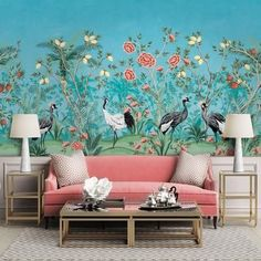 Printed wallpapers introduce a playfulness and can really spruce up a dull space. Get inspiratonal printed wallpaper designs that complement your living rooms and bedrooms from expert designers at Atom Interiors! #Atominteriors #interiordesigners #wallpapers #wallpaperdesigns #wallpapersticker #wallpaperdinding #wallpapermurah #wallpaperdecor #homedecor #walldecor Design Living Room Wallpaper, Wallpaper Decor, Print Wallpaper, Pattern Wallpaper, Wallpaper Designs, Interior Design Companies, Apartment Interior Design, Cool Chandeliers, Long Hallway