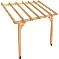 Appenti bois Auvent 1 pan, 6 m² | Leroy Merlin