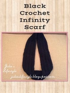 Julie's Lifestyle: Easy Crochet Infinity Scarf & Pattern