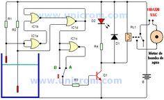 Control de nivel de agua con 4001 - Electrónica Unicrom
