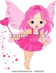 Cute little Love baby fairy in fly