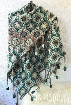 Annadolls. The Little Things In A Simple Life.: фольклорная шаль Pull Crochet, Crochet Granny, Crochet Shawl, Knit Crochet, Crochet Mandala Pattern, Crochet Diagram, Crochet Blanket Patterns, Crochet Scarves, Crochet Clothes