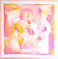 """Evelyn Henson, 20 x 20 """"Pinks of Poise"""" Abstract Acrylic Painting, www.etsy.com/shop/evelynhenson"""