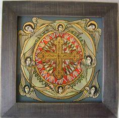 Christian Paintings, Religious Paintings, Byzantine Icons, Popular Art, Crucifix, Christianity, Folk Art, Saints, Decorative Boxes
