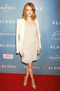 Emma Stone at L.A. premiere of Aloha in Pucci Dress