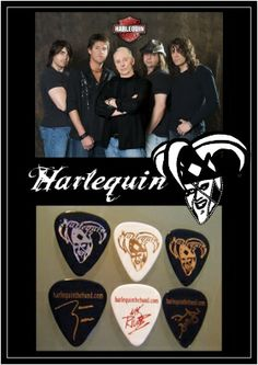 Canadian Classic Rockers - HARLEQUIN EGOpicks Custom Guitar Picks www.egopicks.com