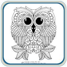 Retro Owls & Mushrooms Pattern Package by Lora S. Irish -