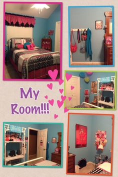 This is my room, I redid it myself with help from my Mom. I got my comforter on sale from JCPenny for $90 & my headboard/footboard for $200 off of Craigslist which my Mom spray-painted white. My wicker shelf was my Great Grandmother's & so was the display cabinet in the corner that my Mom rebacked with fabric. I already had my dresser & my nightstand was less than $100 at IKEA. The pompom like things in the corner were $12 at Party City & the pillows on top of my bed were &10 at Big Lots.