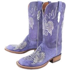 Rod's Exclusive Lucchese Purple Credence Boots