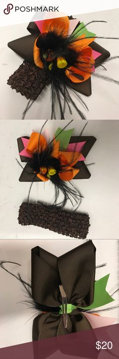 Children's bow can go on headband or worn alone Cute Halloween Childs bow handmade Accessories Hair Accessories