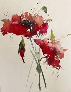 Paintings by Annemiek Groenhout - Ego - AlterEgo Watercolor Poppies, Watercolor Sketch, Watercolor Cards, Abstract Watercolor, Watercolor Illustration, Watercolor Paintings, Watercolours, Art Aquarelle, Watercolor Pictures