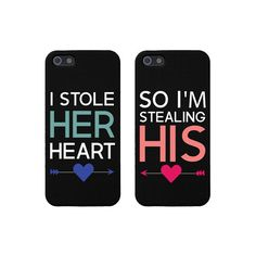"Cute Couple Phone Case for iPhone 4 4S Cases ""Stealing Heart"" ❤ liked on Polyvore featuring accessories, tech accessories, phone cases, phones, iphone cases, cases, iphone, iphone cover case, apple iphone cases and iphone cell phone cases"