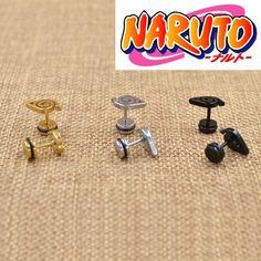 Naruto Stud Womens Anime Earrings 3 Colors