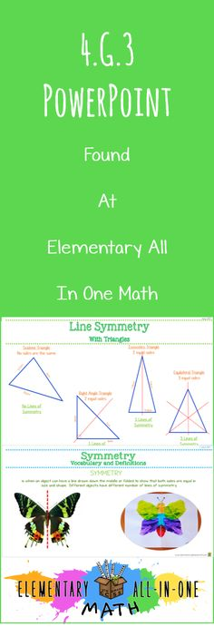 geometry parallel and perpendicular lines symmetry powerpoint 4g123 math