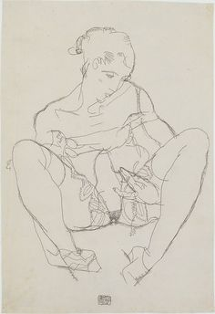 Egon Schiele | Seated Woman in Chemise | The Met