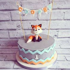 Boys First Birthday Cake, Baby Birthday Cakes, Easy Toddler Snacks, Indian Birthday Parties, Fox Cake, Themed Cakes, Cake Designs, Cake Decorating, Cake Ideas